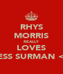 RHYS MORRIS REALLY LOVES JESS SURMAN <3 - Personalised Poster A4 size