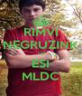 RIMVI NEGRUZINK TU ESI MLDC - Personalised Poster A4 size