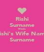 Rishi Surname Weds Rishi's Wife Name Surname - Personalised Poster A4 size