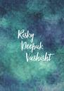 Risky          Deepak               Vashisht  - Personalised Poster A4 size