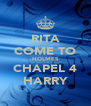 RITA COME TO HOLMES CHAPEL 4 HARRY - Personalised Poster A4 size