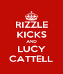RIZZLE KICKS AND LUCY CATTELL - Personalised Poster A4 size