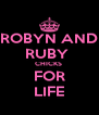 ROBYN AND RUBY  CHICKS  FOR LIFE - Personalised Poster A4 size