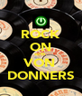 ROCK ON with VON  DONNERS - Personalised Poster A4 size