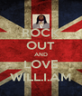 ROCK OUT AND LOVE WILL.I.AM - Personalised Poster A4 size