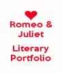 Romeo & Juliet  Literary Portfolio - Personalised Poster A4 size