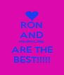 RON AND HERMIONE ARE THE BEST!!!!! - Personalised Poster A4 size