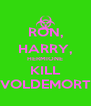 RON, HARRY, HERMIONE KILL VOLDEMORT - Personalised Poster A4 size