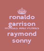 ronaldo garrison HORSES AND PONIES raymond sonny - Personalised Poster A4 size