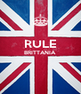 RULE BRITTANIA   - Personalised Poster A4 size
