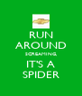 RUN AROUND SCREAMING, IT'S A SPIDER - Personalised Poster A4 size