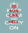 RUN LIKE  HELL  - Personalised Poster A4 size