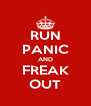 RUN PANIC AND FREAK OUT - Personalised Poster A4 size