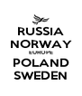 RUSSIA NORWAY EUROPE POLAND SWEDEN - Personalised Poster A4 size