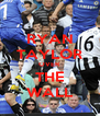 RYAN TAYLOR OVER THE WALL - Personalised Poster A4 size