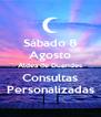 Sábado 8 Agosto Aldea de Duendes Consultas Personalizadas - Personalised Poster A4 size