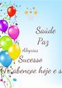 Saúde           Paz Alegrias Sucesso Deus Te abençoe hoje e sempre - Personalised Poster A4 size