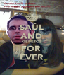 SAÚL AND GEPETOS FOR  EVER - Personalised Poster A4 size