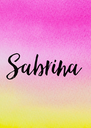 Sabrina - Personalised Poster A4 size