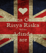 Salma Gezia Risya Riska Salwa Adinda We are BF - Personalised Poster A4 size