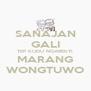 SANAJAN GALI TEP KUDU NGABEKTI MARANG WONGTUWO - Personalised Poster A4 size