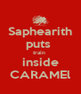 Saphearith puts  train  inside CARAMEl - Personalised Poster A4 size