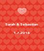 Sarah & Sebastian  1.7.2016  - Personalised Poster A4 size