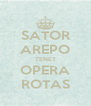 SATOR AREPO TENET OPERA ROTAS - Personalised Poster A4 size