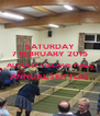 SATURDAY 7 FEBRUARY 2015 ALFOLD VILLAGE HALL ANNUAL SKITTLES  - Personalised Poster A4 size