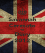 Savannah Ceresato 9R Diary 2012 - Personalised Poster A4 size