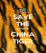 SAVE THE SOUTH CHINA TIGER - Personalised Poster A4 size