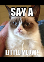 SAY A LITTLE MEOW! - Personalised Poster A4 size