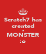 Scratch7 has created a MONSTER :o - Personalised Poster A4 size