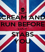 SCREAM AND  RUN BEFORE LUCY STABS YOU - Personalised Poster A4 size