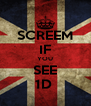 SCREEM IF YOU SEE 1D  - Personalised Poster A4 size