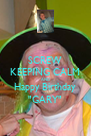 "SCREW KEEPING CALM AND Happy Birthday ""GARY"" - Personalised Poster A4 size"