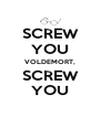 SCREW YOU VOLDEMORT, SCREW YOU - Personalised Poster A4 size