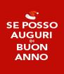 SE POSSO AUGURI DI BUON ANNO - Personalised Poster A4 size