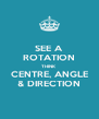SEE A ROTATION THINK CENTRE, ANGLE & DIRECTION - Personalised Poster A4 size