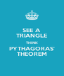 SEE A TRIANGLE THINK PYTHAGORAS' THEOREM - Personalised Poster A4 size