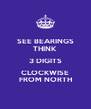 SEE BEARINGS THINK 3 DIGITS CLOCKWISE FROM NORTH - Personalised Poster A4 size