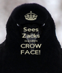 Sees Zacks cupcakes CROW FACE! - Personalised Poster A4 size