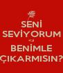 SENİ SEVİYORUM <3 BENİMLE ÇIKARMISIN? - Personalised Poster A4 size