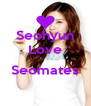 Seohyun Love  Seomates  - Personalised Poster A4 size