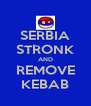 SERBIA STRONK AND REMOVE KEBAB - Personalised Poster A4 size