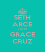 SETH ARCE Loves GRACE CRUZ - Personalised Poster A4 size