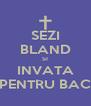 SEZI BLAND SI INVATA PENTRU BAC - Personalised Poster A4 size