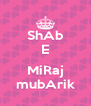 ShAb E  MiRaj mubArik - Personalised Poster A4 size