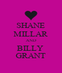 SHANE MILLAR AND BILLY  GRANT - Personalised Poster A4 size