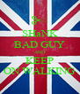 SHaNK BAD GUY AND KEEP ON WALKING - Personalised Poster A4 size